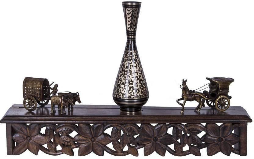 View india wooden handicraft wall shelf Wooden Wall Shelf(Number of Shelves - 1, Brown) Furniture (india wooden handicraft)