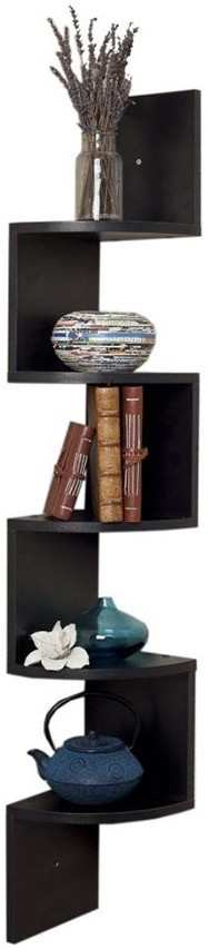 View Decor India Craft MDF Wall Shelf(Number of Shelves - 5, Black) Furniture (Decor India Craft)