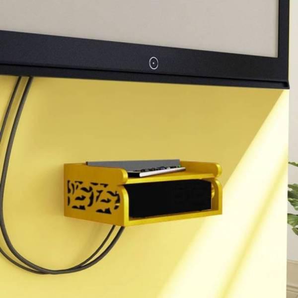View skood MDF Wall Shelf(Number of Shelves - 2, Yellow) Furniture (skood)