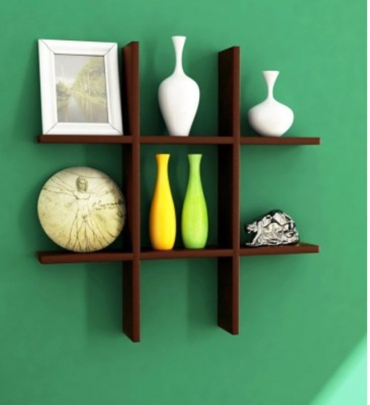 1bbcec1ffb1 Buy Onlineshoppee Hermosa Set Of 2 MDF Wall Shelf(Number of Shelves ...