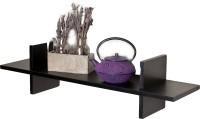 View Custom Decor H Shape Wooden Wall Shelf(Number of Shelves - 1, Black) Furniture