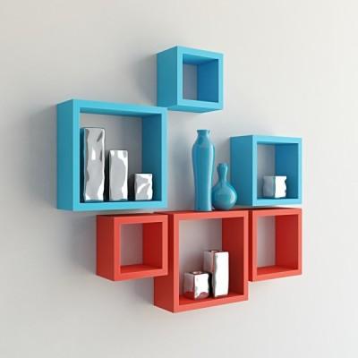 hardika furniture Nesting Square MDF Wall Shelf