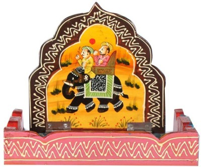 Apkamart Handicraft Wall Hanging Bracket & Storage Stand - Wall Decor Showpiece and Key Stand for Home Decor and Gifts Wooden Wall Shelf(Number of Shelves - 1, Multicolor)
