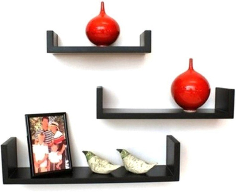 View Choice Cloud Wooden Wall Shelf(Number of Shelves - 3, Black) Furniture (Choice Cloud)