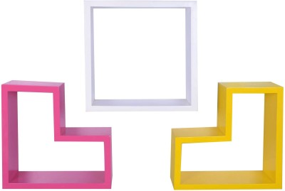 Dcjc Dcjc Multipurpose Bracket Shelf Multicolour - Set Of 3 MDF Wall Shelf