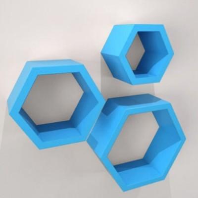 hardika furniture hexagon MDF Wall Shelf