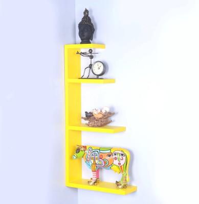 Dcjc Dcjc Hanger Shelf Yellow MDF Wall Shelf