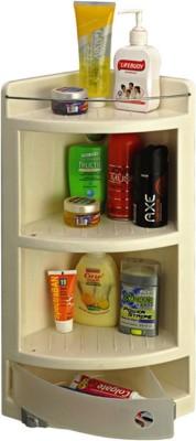Sunrise Corner Cabinet Polypropylene Wall Shelf