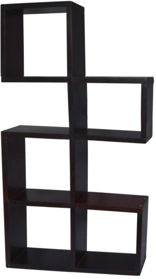 View Mojopanda MP441 Wooden Wall Shelf(Number of Shelves - 5, Black) Furniture (Mojopanda)