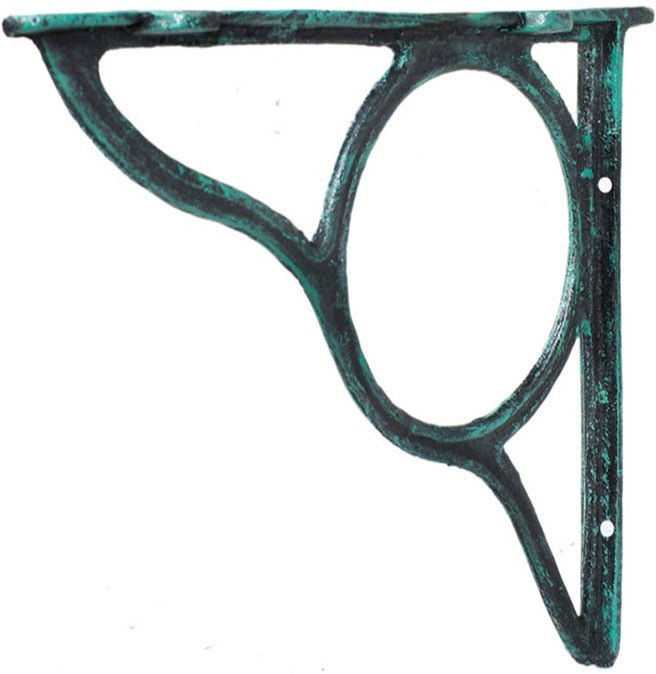 View Karara Mujassme Cast Aluminium Spandrel Aluminium Wall Shelf(Number of Shelves - 1, Green) Price Online(Karara  Mujassme)