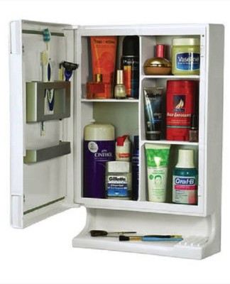 Cipla Plast Bathroom New Look Mirror Cabinet Plastic Wall Shelf