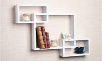 Wallz Art Square MDF Wall Shelf(Number of Shelves - 6, White)