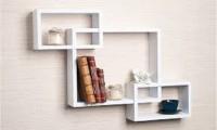 Wallz Art Square MDF Wall Shelf(Number of Shelves - 6, White)