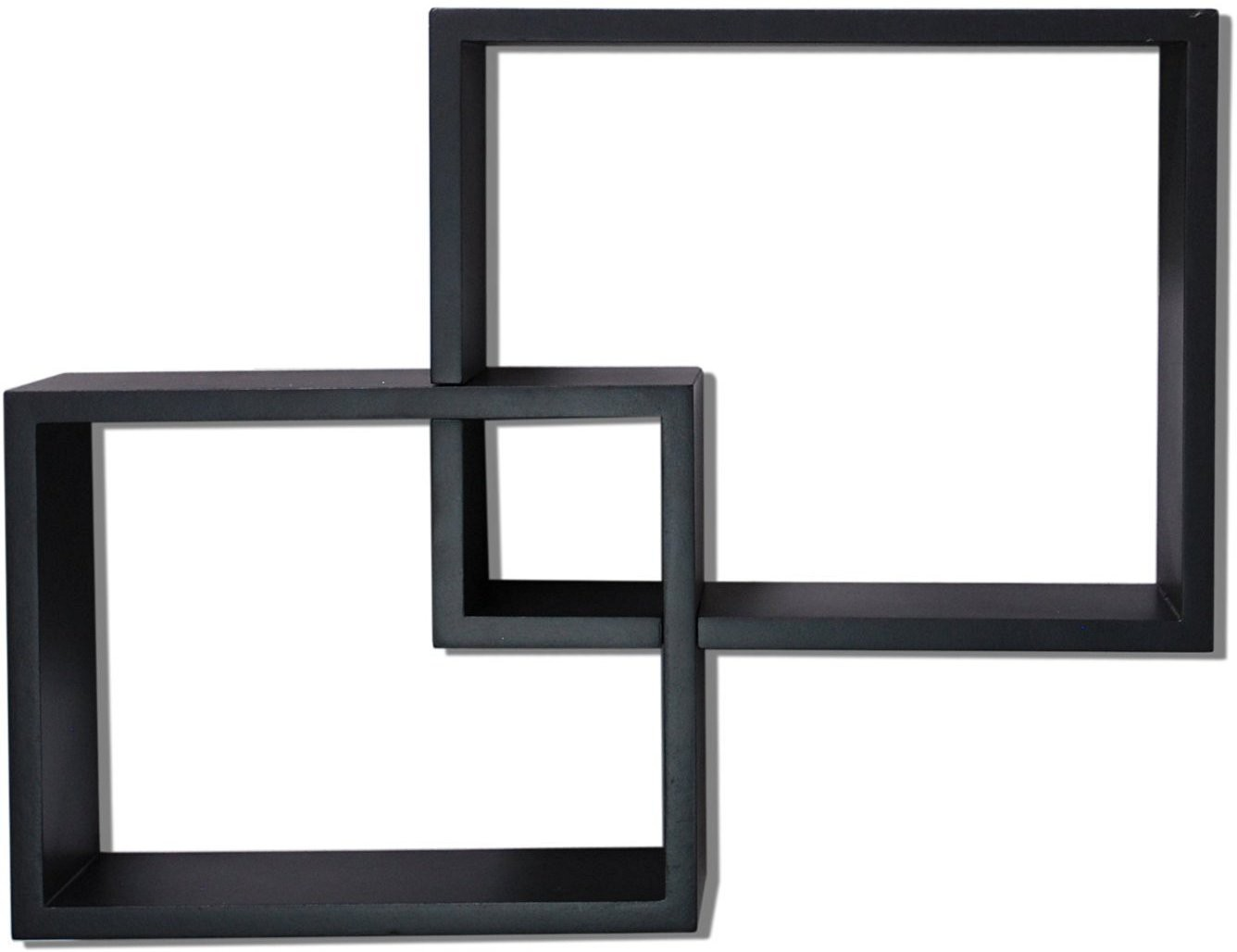 View Homey Essense Interlocking Floating Wall Shelves MDF Wall Shelf(Number of Shelves - 2, Black) Furniture (Homey Essense)