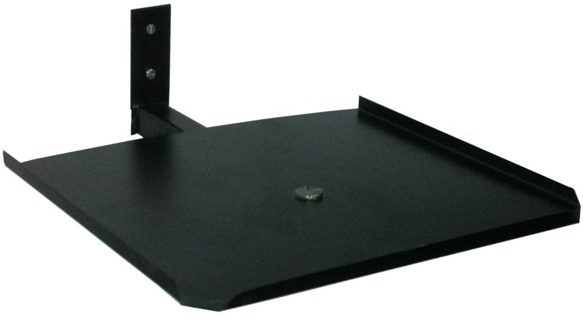 View Smart Shelter Set Top box wall mount Steel Wall Shelf(Number of Shelves - 1, Black) Furniture (Smart Shelter)