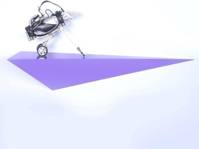 Dcjc Dcjc Aircutter Shelf Purple MDF Wall Shelf