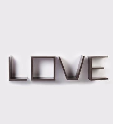 CP DECOR Exclusive Love Wall Shelf Wooden Wall Shelf