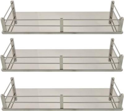 Dolphy Shelf-14x5 Inch-Set Of 3 Stainless Steel Wall Shelf