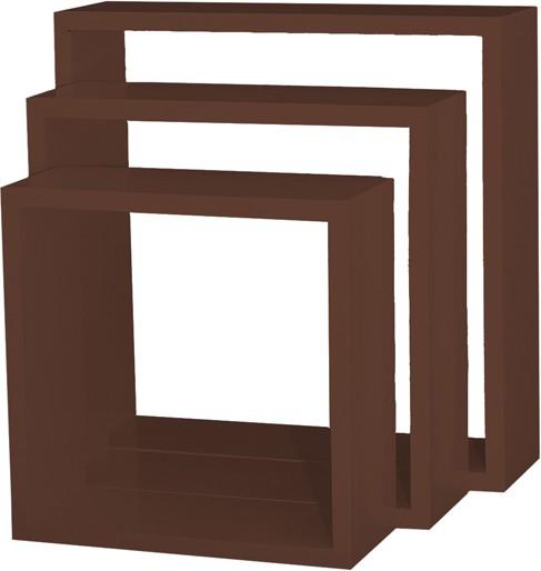 View Custom Decor Nesting Wooden Wall Shelf(Number of Shelves - 3, Brown) Furniture (Custom Decor)
