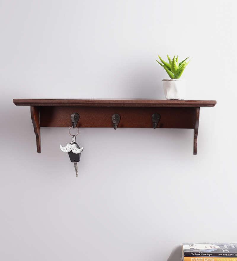 View La Stella Wooden Wall Shelf(Number of Shelves - 1, Brown) Furniture (La Stella)