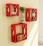 AYMH MDF Wall Shelf (Number of Shelves -...