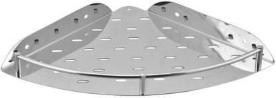 Aqua Fit Bathroom Corner Stainless Steel Wall Shelf(Number of Shelves - 1, Silver)