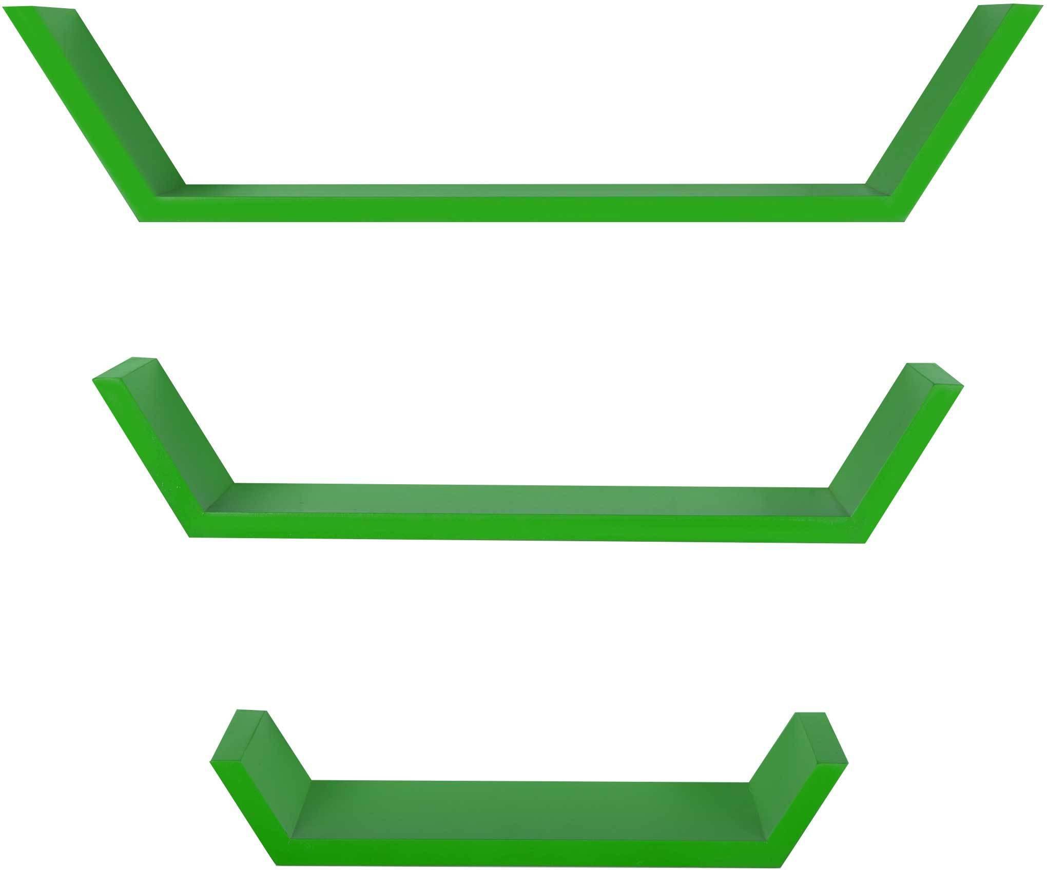 View Dcjc Dcjc Floater Boat Shelf Green - Set Of 3 MDF Wall Shelf(Number of Shelves - 3, Green) Furniture (Dcjc)