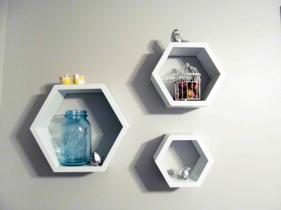 Paras Decor Engineered Wood Semi-Open Book Shelf(Finish Color - White)