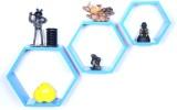 Dcjc Dcjc Hexagon Shelf Blue - Set Of 3 ...