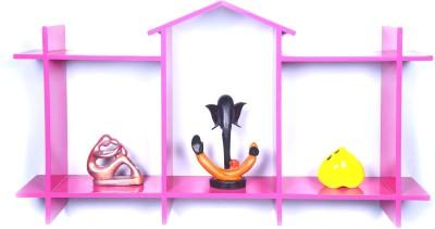 Dcjc Dcjc Little Home Shelf Pink MDF Wall Shelf