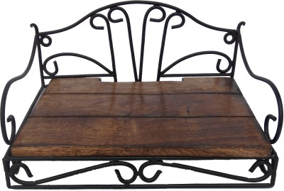 HANDICRAFT ATTRACTIVE DESIGN SETUP BOX STAND Wooden, Iron Wall Shelf