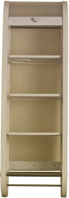 Hallmarc Plastic, White Metal, Particle Board Wall Shelf