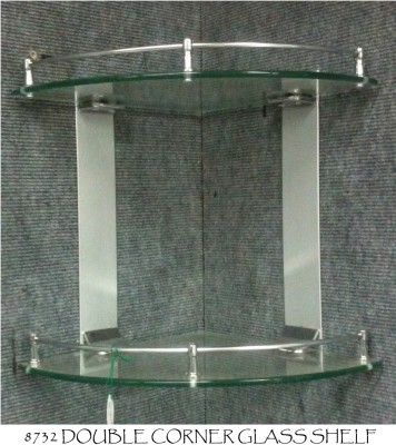 Bath Store Glass, Steel Wall Shelf