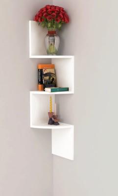 Home Sparkle Corner Rack Design Wooden Wall Shelf
