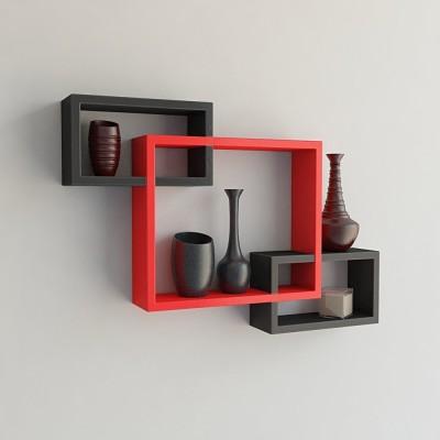 hardika furniture Rectangular MDF Wall Shelf