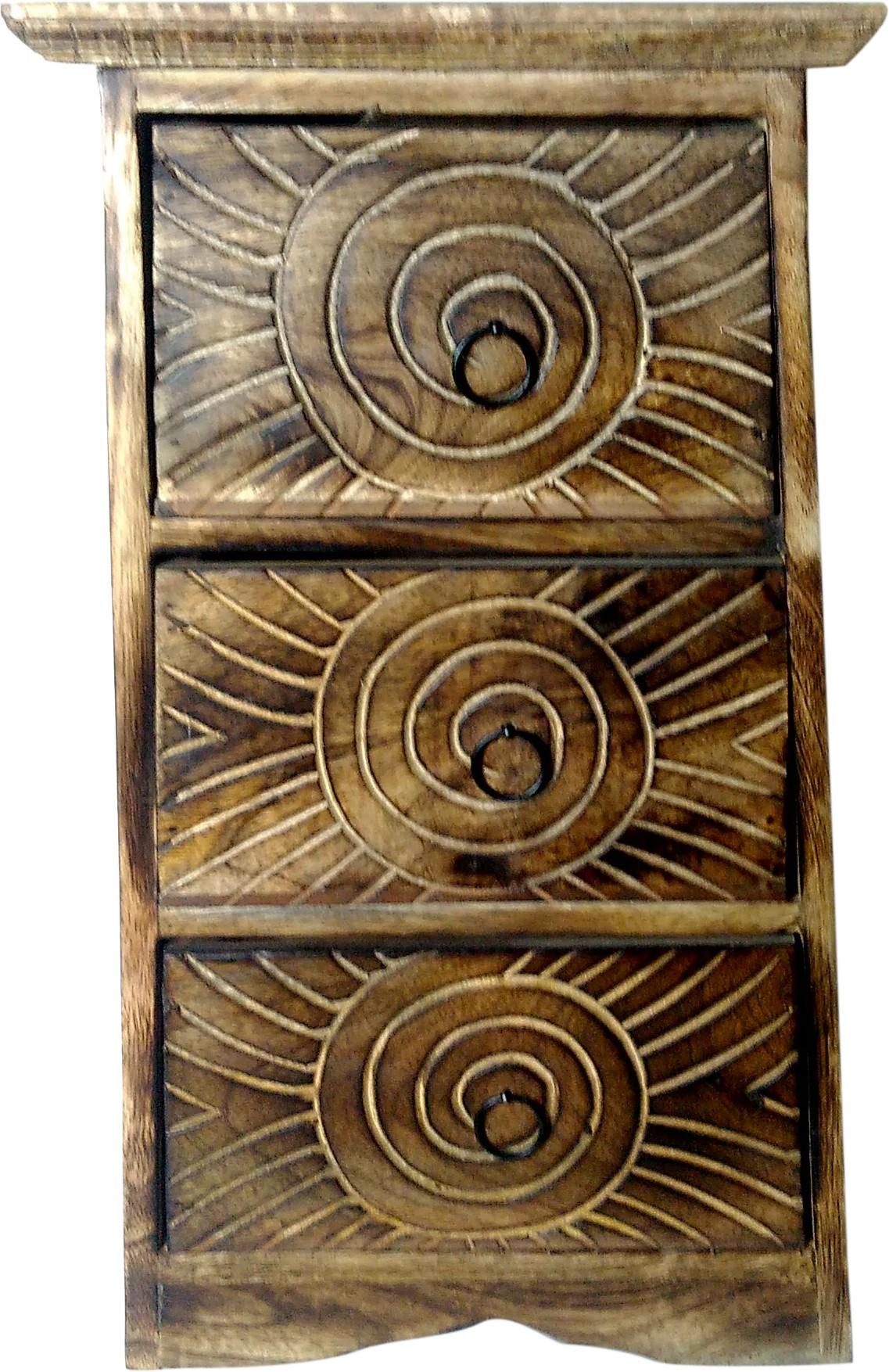 View Kuchkhas Wooden Wall Shelf(Number of Shelves - 3) Furniture (Kuchkhas)
