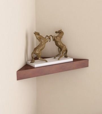 Arsalan Artistic Single Corner Wooden Wall Shelf