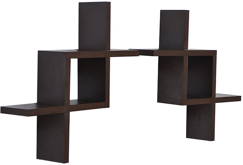 View Amour BS018 Wooden Wall Shelf(Number of Shelves - 2, Multicolor) Furniture (Amour)