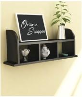 Onlineshoppee Beautiful Black Wooden Wall Shelves/Rack Wooden Wall Shelf(Number of Shelves - 4)