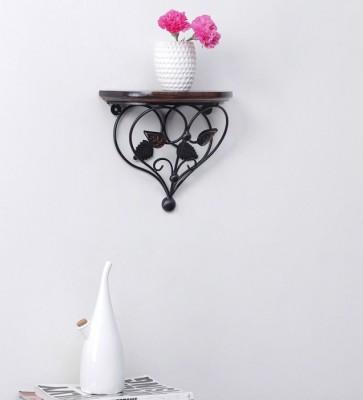 khan handicrafts Wooden, Iron Wall Shelf