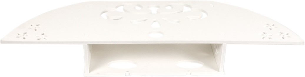View Pindia Designer Wall Shelf Design No.-P147 MDF, Particle Board Wall Shelf(Number of Shelves - 1, White) Furniture (Pindia)
