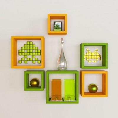 hardika furniture Nesting Square Shape MDF Wall Shelf