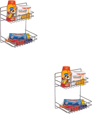 Leaves Detergent Rack Combo Stainless Steel Wall Shelf Stainless Steel Wall Shelf