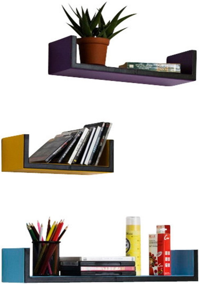 The New Look MDF Wall Shelf(Number of Shelves - 3, Multicolor)