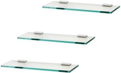 royaL indian craft Frosted 14 By 5 Inch Multipurpose (Pack of 3 ) Glass Wall Shelf