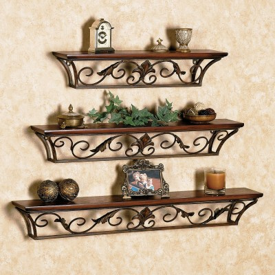 TheNewLook Wooden, Iron Wall Shelf