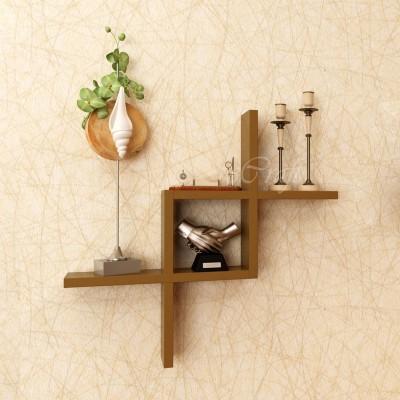 eCraftIndia Decorative Zigzag Wooden Wall Shelf