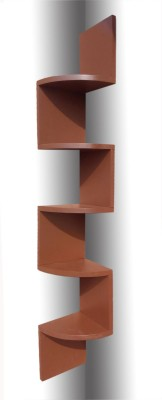 BM WOOD FURNITURE Zigzag MDF Wall Shelf