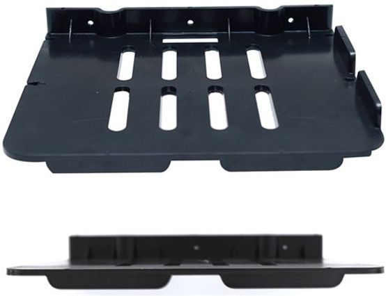 View Aqua Fit Aquasoft prime series Set top box stand (Unbreakable)-Set of 2 Acrylic Wall Shelf(Number of Shelves - 2, Black) Furniture (Aquafit)
