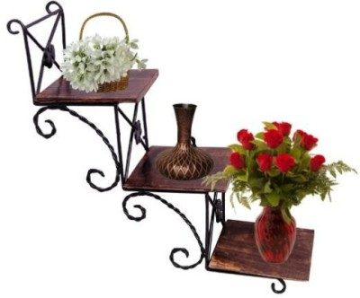 Onlineshoppee Solid Wood Open Book Shelf(Finish Color - Brown)